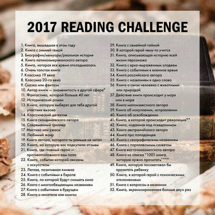 Книжный вызов 2017 #книга #book #challenge