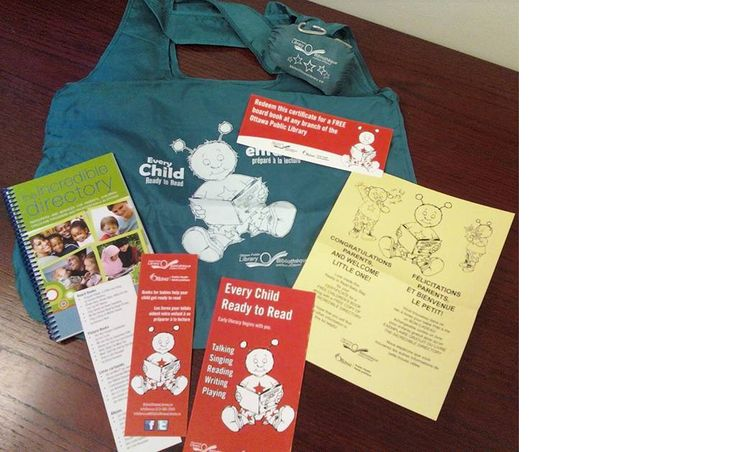 Ottawa Public Library Ready to Read Baby Book Bag http://biblioottawalibrary.ca/en/node/11849
