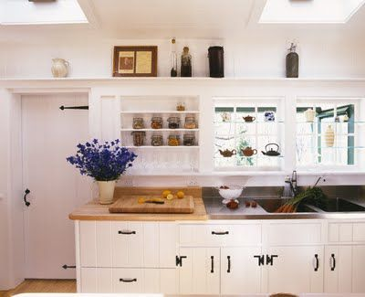White kitchen cabinets with black handles google search for Country style kitchen handles