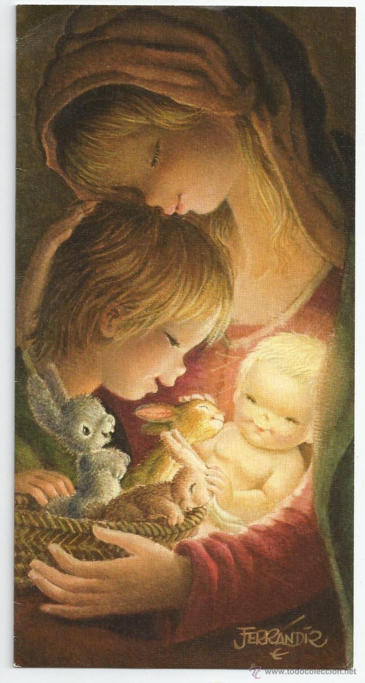Felicitación de Navidad Ferrándiz *Terneza* - Original 1973