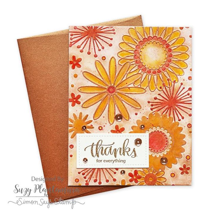 SSS Card Kit Nov. 2016; SSS Thankful Heart; red orange yellow; embossing folder with ink; thanks; thank you; metallic