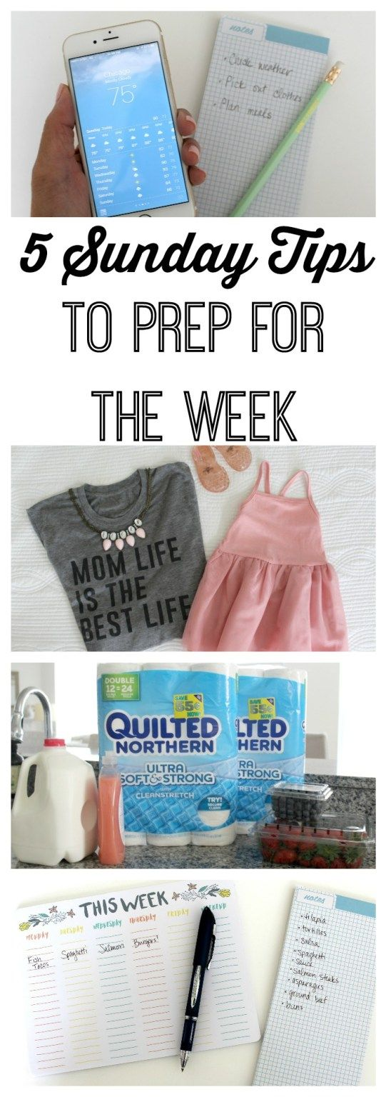 5 Sunday Tips to Prep for the Week! Every busy mom should be doing these! #designedmega ad