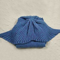 Chic Knitted Fishtail Blanket For Women (BLUE,ONE SIZE(FIT SIZE XS TO M)) | Sammydress.com Mobile
