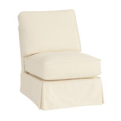 Davenport Armless Club Chair Slipcover Special Order Fabrics