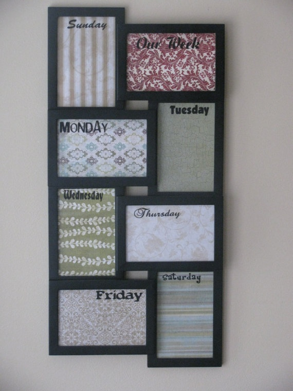 Weekly Dry Erase Board.  I can so make this!!!!