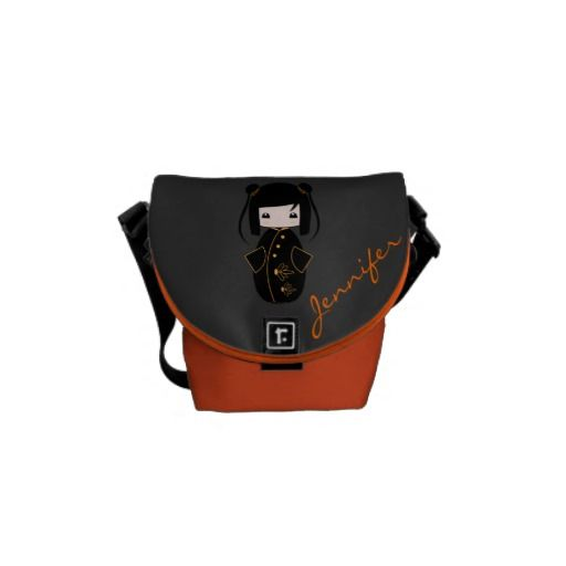 Personalized Kokeshi Doll, Bags Messenger Bag