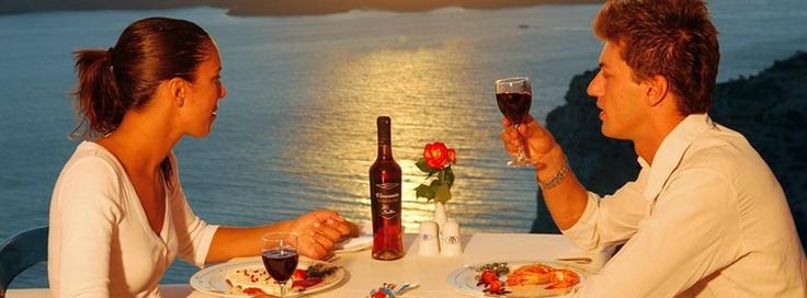 Create unique romantic moments at the Caldera Restaurant!     http://www.volcano-view.com/santorini-caldera-restaurant.php