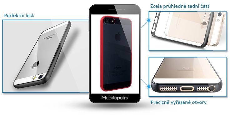 Kryt na iPhone 5, 5s, SE - iRaptor HD Clear As1 červený