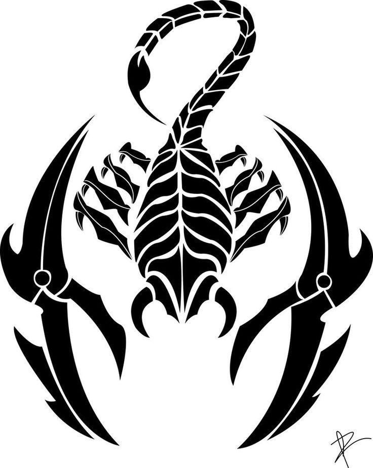 картинки черно белые тату скорпиона стадия турнира прошла