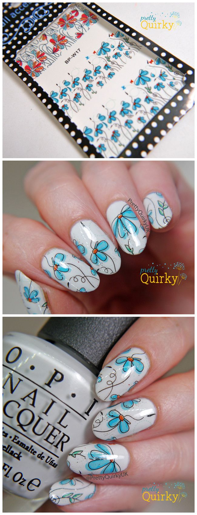 €2.69 Nail Art Nagelsticker Watertransfer Tattoo Aufkleber Blumen Muster BORN PRETTY BP-W17 - BornPrettyStore.com