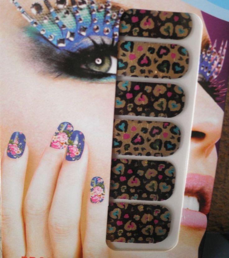 stickers d ongles-bijoux autocollant-nail art-vernis-déco-tattoo-léopard-imprimé