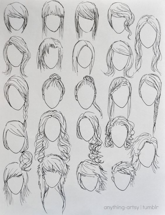 how to draw anime characters step by step for beginners ...  Easy
