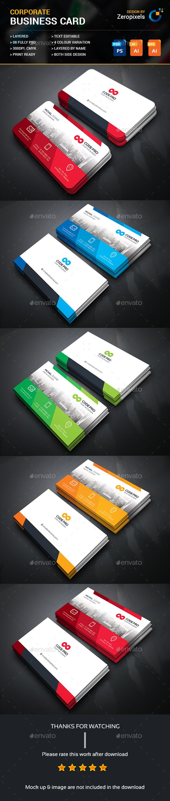 Creative Business Card - #Business Cards Print Templates Download here: https://graphicriver.net/item/creative-business-card/17362094?ref=classicdesignp