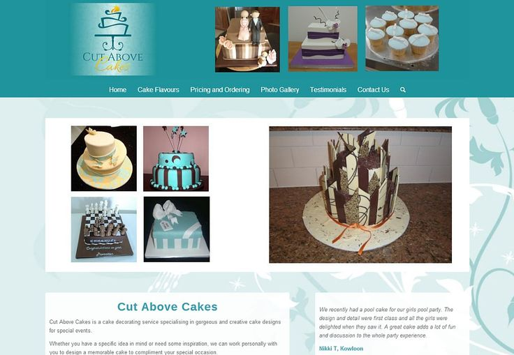 Website Design Gallery - Cut Above Cakes