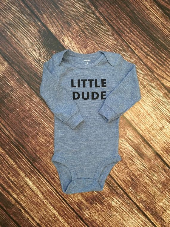 Little Dude baby boy bodysuit trendy baby boy by Twelve20Designs