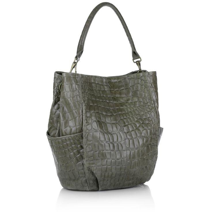 liebeskind silvi croco grey hobo bags bei fashionette taschen pinterest grau taschen und. Black Bedroom Furniture Sets. Home Design Ideas
