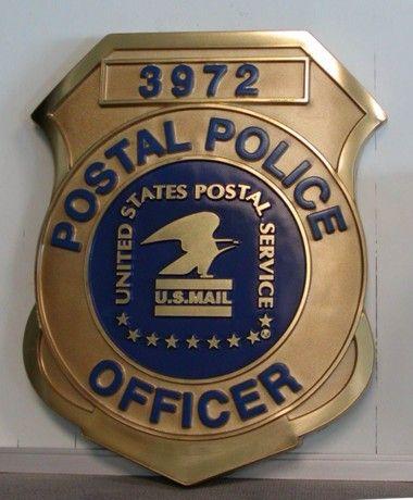 postal police badge | badge ref 6064fc 15 full color seal postal police badge