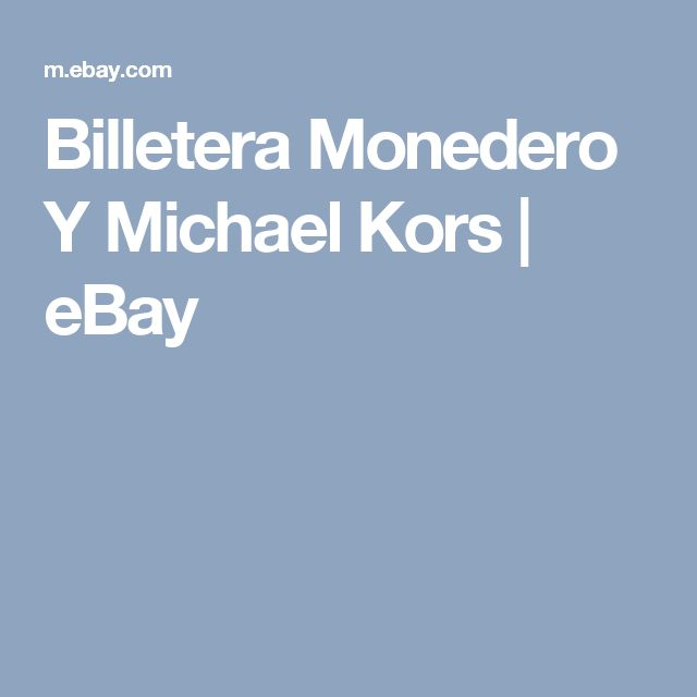 Billetera Monedero Y Michael Kors  | eBay