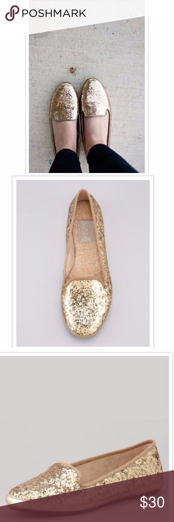 UGG Gold Metallic Ballet Flat SZ 7 These were worn maybe twice.. Excellent Condition.. Size7 Womens UGG Shoes Flats & Loafers