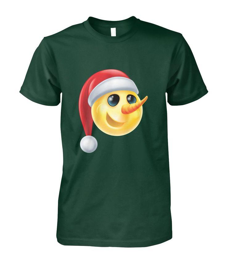 Christmas Snowman Emoji T-Shirt