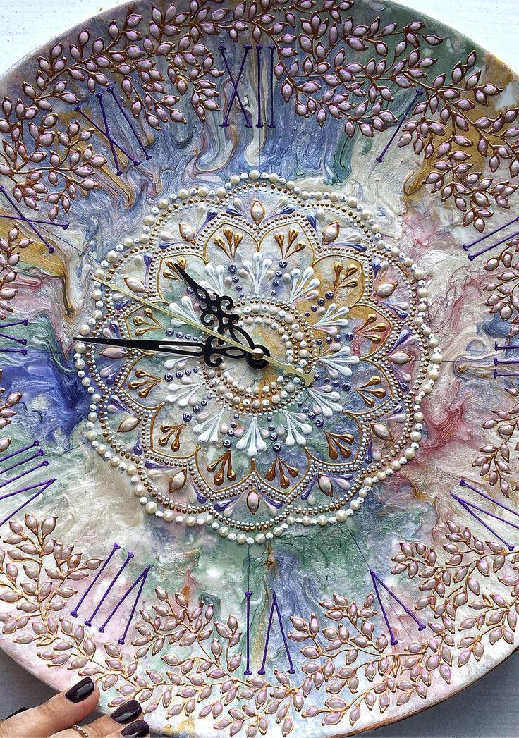 Wall Clock, Point-to-Point Painting | Часы в стиле Прованс – купить в интернет-магазине на Ярмарке Мастеров с доставкой
