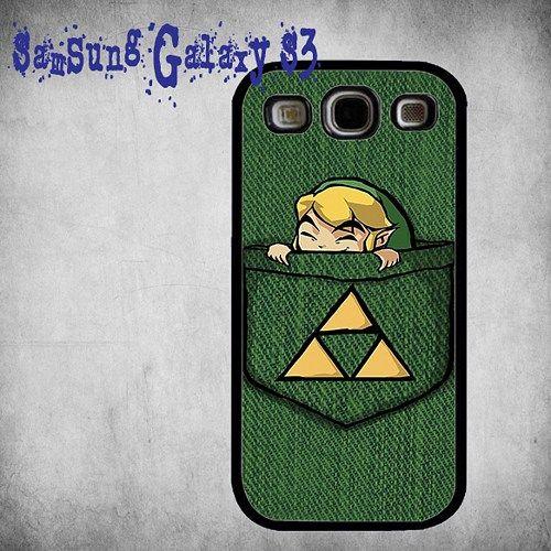 Pocket Link The Legend Of Zelda Print On Hard Plastic Samsung Galaxy S3, Black Case