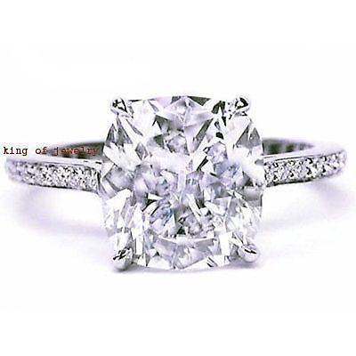 2.50 Ct. Cushion Cut Micro Pave Round Diamond Engagement Ring I,VS1 EGL USA 18K