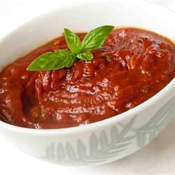 Pizza Sauce 1 (6 ounce) can tomato paste 6 fluid ounces warm water (110 degrees F/45 degrees C) 3 tablespoons grated Parmesan cheese 1 teaspoon minced garlic 2 tablespoons honey (I only used 1T) 3/4 teaspoon onion powder 1/4 teaspoon dried oregano 1/4 teaspoon dried marjoram (didn't have any) 1/4 teaspoon dried basil 1/4 teaspoon ground black pepper 1/8 teaspoon cayenne pepper 1/8 teaspoon dried red pepper flakes salt to taste