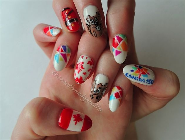 Canada 150 by creativeedge from Nail Art Gallery