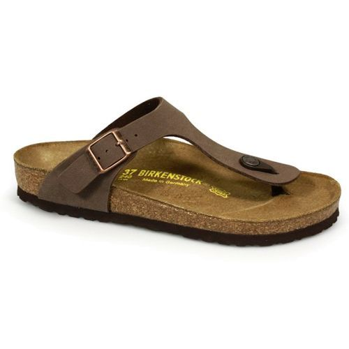 Birkenstock Gizeh Birko-Flor Nubuck Mocca These thong style Nubuck Mocca Birkenstock Gizeh sandals are extremely comfortable and lightweight making