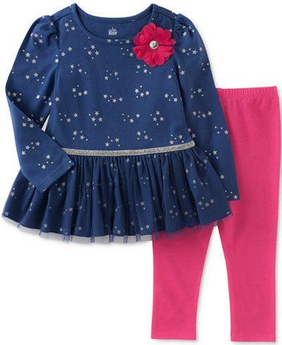 b4bd5cda567e4 Kids Headquarters 2-Pc. Star-Print Tulle Tunic & Leggings Set, Baby Girls  (0-24 months)