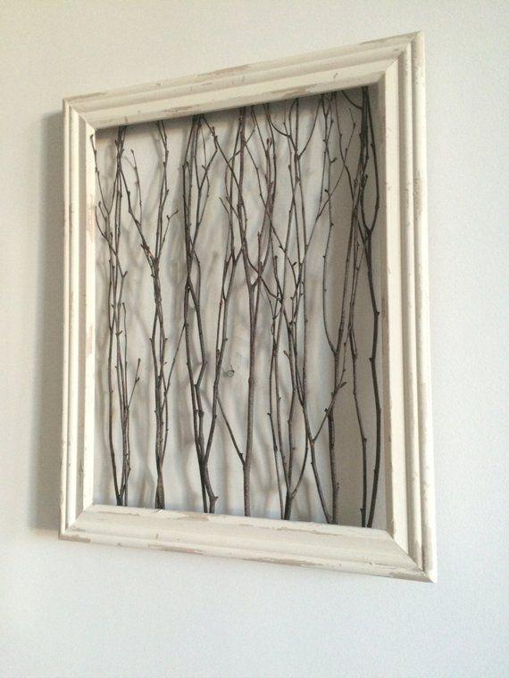 Rustic Framed Branches (1 Medium Frame) – Rustic Wall Decor, Rustic Home Decor, Rustic Frame, Birch