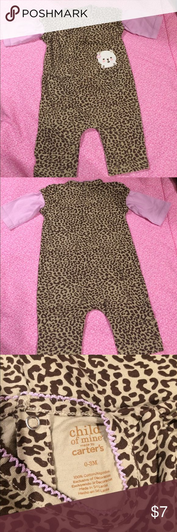 Carter's animal print one piece Never worn and in excellent condition!! Size 0-3 months. Adorable animal print one piece with 2 front pockets 💕 so cute!!! Carter's One Pieces
