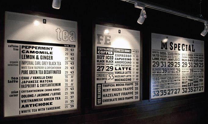 Cox Cafe Menu