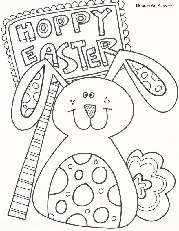 spring and easter coloring pages - photo#45