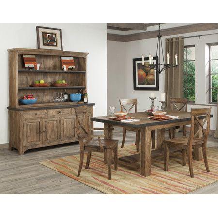 dining table mango wood u0026 metal medium brown