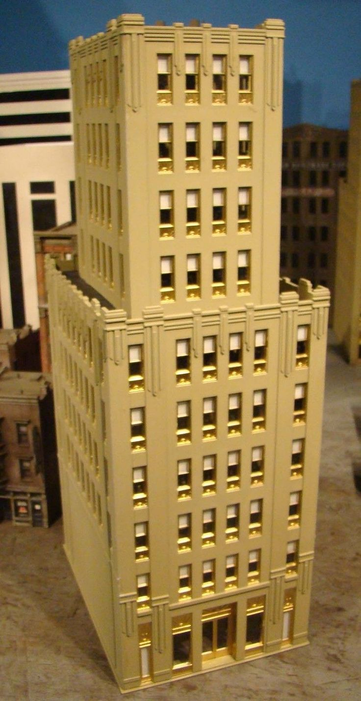 Toy Model Buildings : Ho scale building bachmann spectrum metropolitan built up
