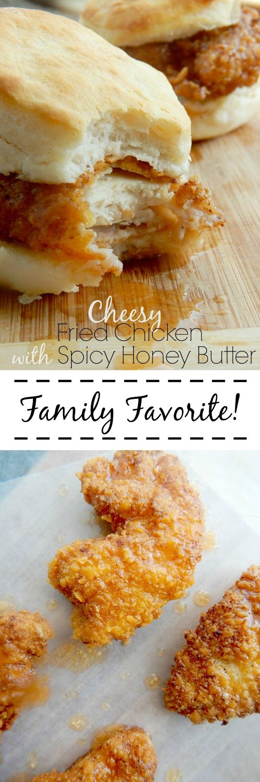 cheesy fried chicken with spicy honey butter (sweetandsavoryfood.com) (water recipes chicken breasts)