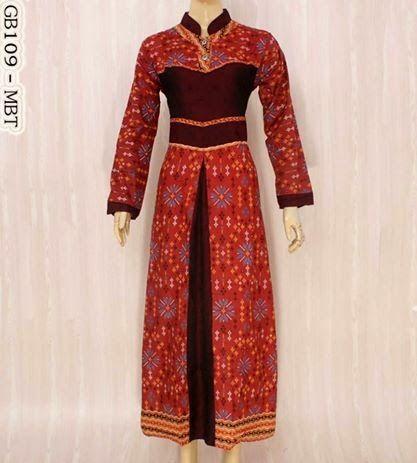 Grosir Gamis Muslim | Busana Gamis Muslim | Gamis Muslim Online: Model Gamis Batik Terbaru
