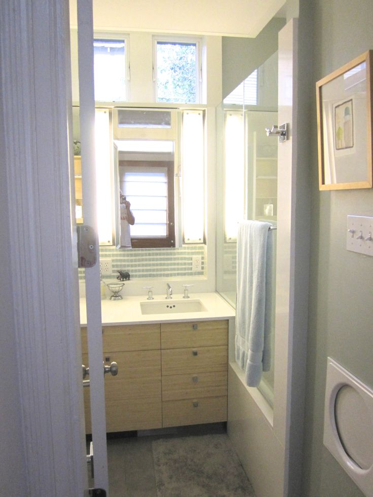 Our hard to photograph new bathroom Bamboo