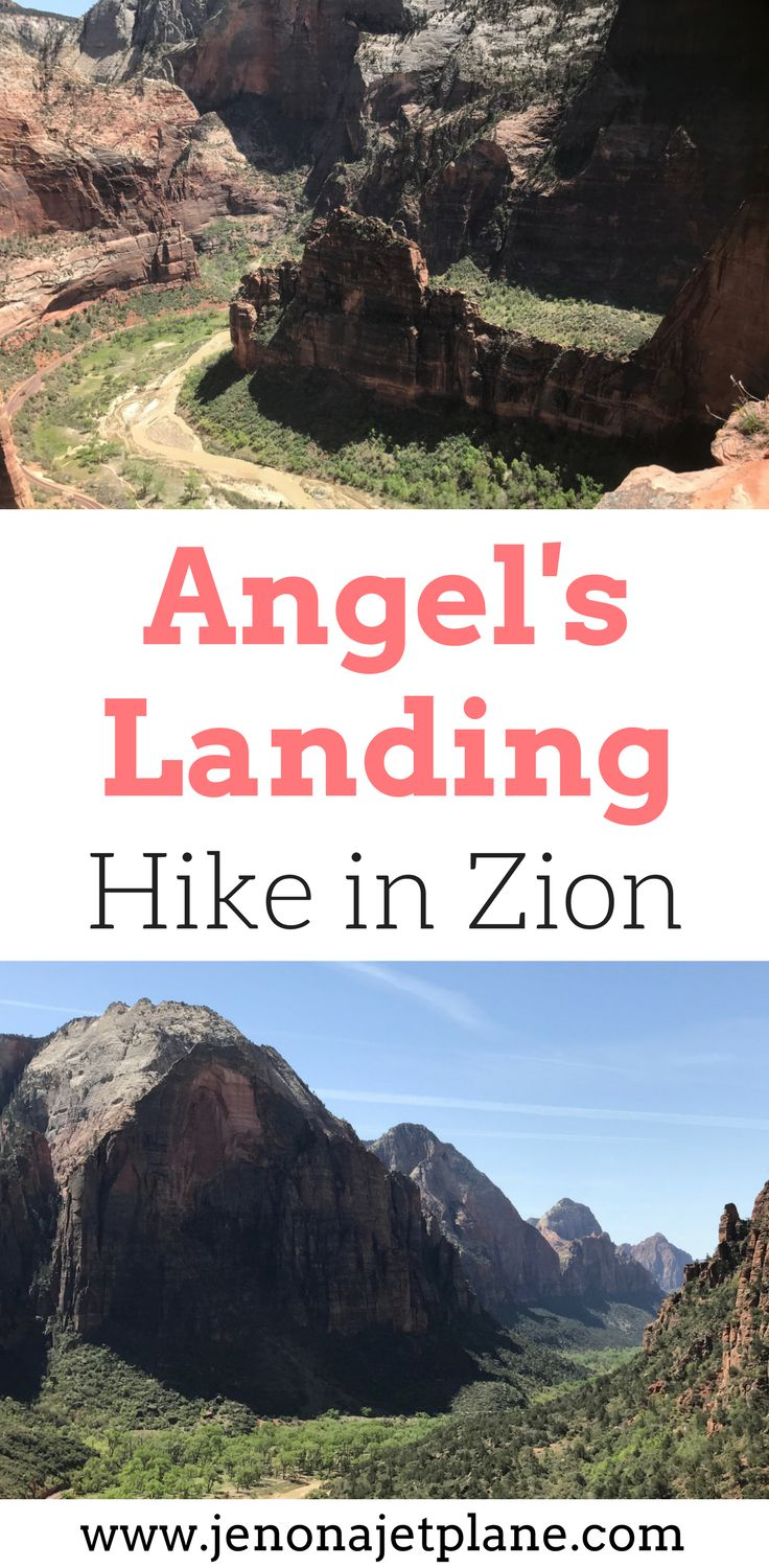 Are you looking for a beautiful hike in the US? The Angel's Landing hike is an epic hike with stunning views in Zion National Park. This hike is challenging and a bit terrifying if you're afraid of heights. Check out pictures from this hike and what you need to know before you do the Angel's Landing Hike. Make sure you save this to your hiking board so you can find it later.