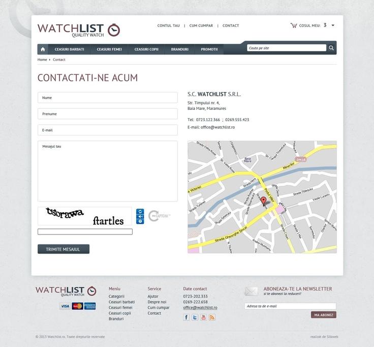 Pagina de contact - magazin online ceasuri