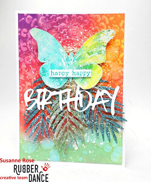 Susanne Rose Designs: Birthday Card with Distress Oxides - Video Tutoria...