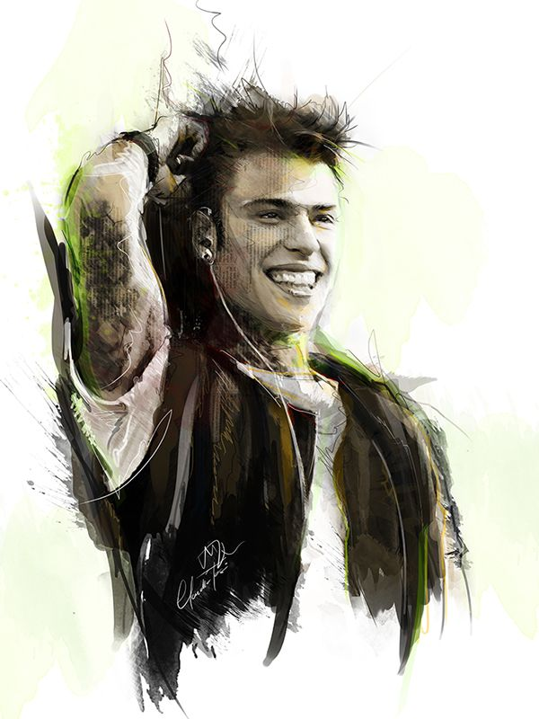 Fedez  © by Mirror Walkers - Digital drawing and painting - www.mirrorwalkers.it - www.facebook.com/MirrorWalkers