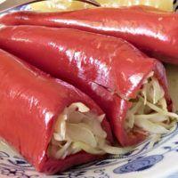 Recept : Nakládané papriky plněné zelím | ReceptyOnLine.cz - kuchařka, recepty a inspirace