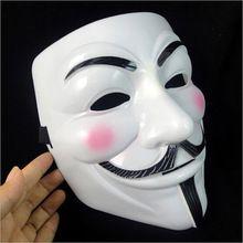 La V de vendetta Partido Cosplay masque Máscara Anonymous Guy Fawkes Disfraces Adult Costume Accessory macka máscaras de halloween(China (Mainland))