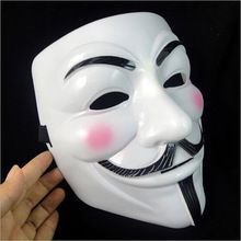 La V de vendetta Partido Cosplay masque Máscara Anonymous Guy Fawkes Disfraces Adult Costume Accessory macka máscaras de halloween(China (Mainland))