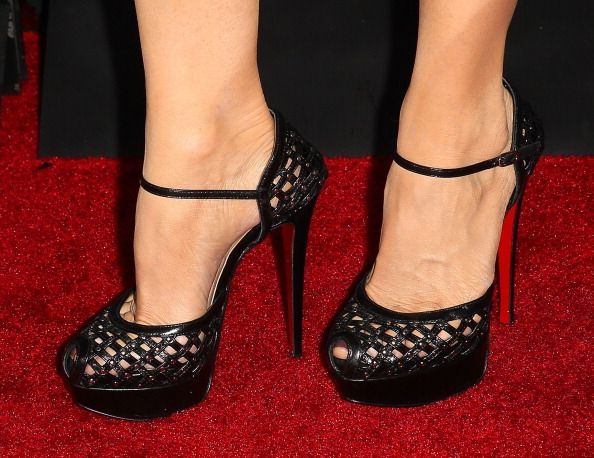 Laura Leighton (shoe detail) attends the 'Pretty Little Liars' 100th episode celebration at W Hollywood on May 31, 2014 in Hollywood, California.