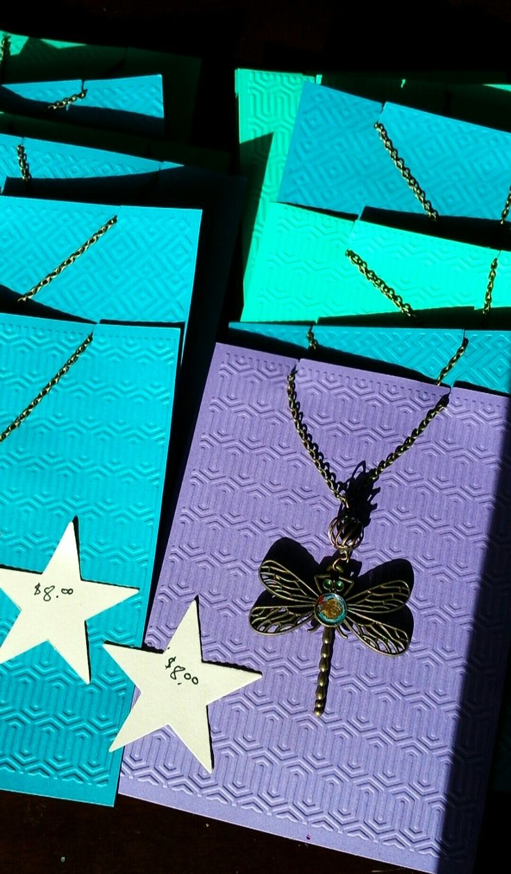 Dragonfly necklaces from Paper Wings