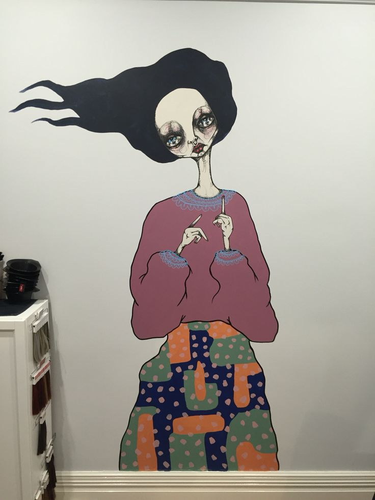Jodee Knowles street art piece taking centre stage in our studio #one_hairy_lady